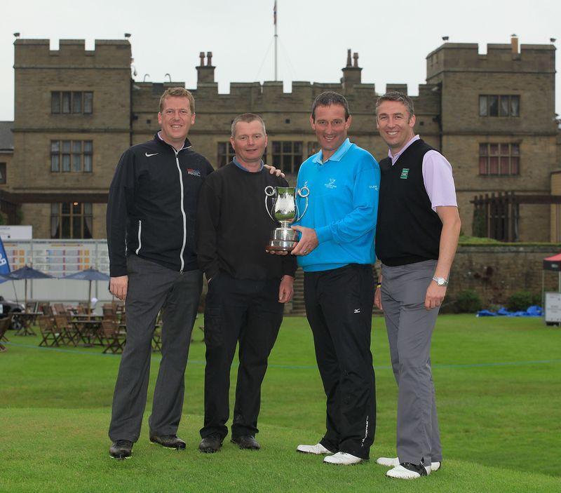 Slaley Hall Dir. of Golf Keith Pickard, Steve Cram, Paul Wesselingh, De Vere Dir. of Golf, Leisure and Spa Daniel Hodson (2)