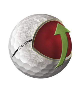 Wilson Duo Yellow Golf Ball