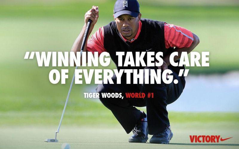 Nike Golf ad wt Tiger Woods