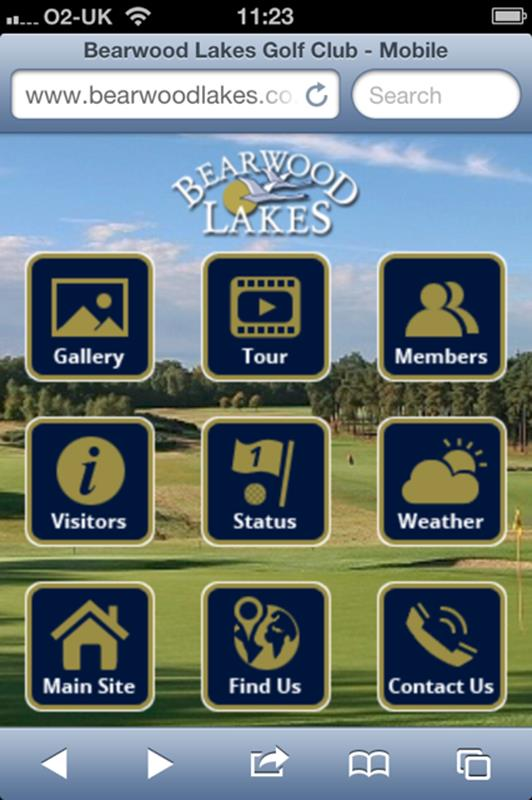 Bearwood Lakes Golf Club mobile website