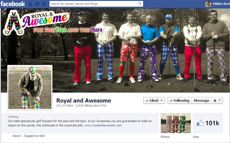 44389148e6e Royal & Awesome in the lure of Facebook fans - Golf Business Monitor ...