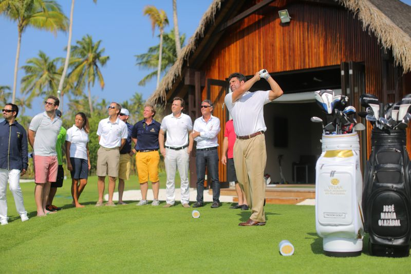 The official opening of his Velaa Golf Academy by Olazabal