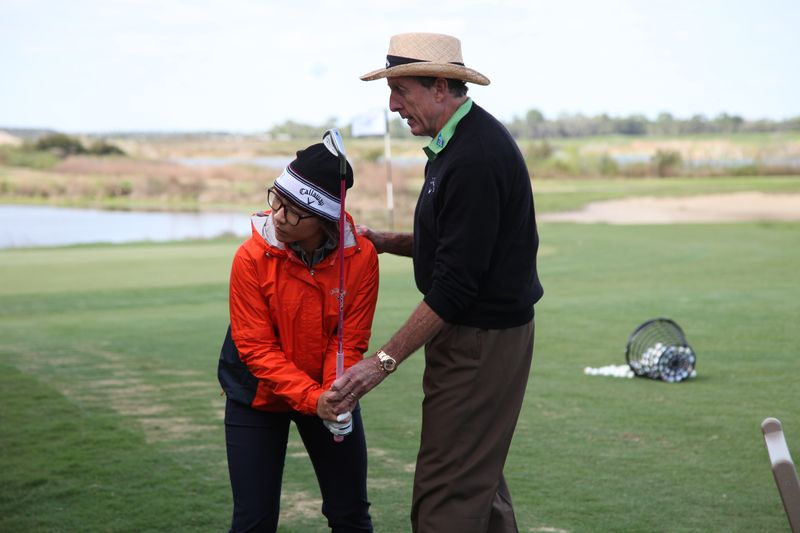 David Leadbetter in action