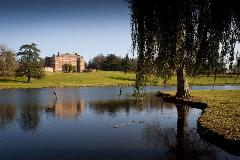 Brocket Hall with lake