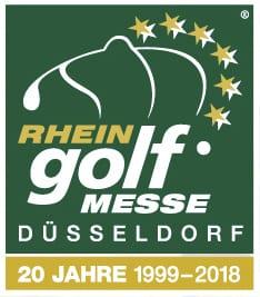 Rheingolf Messe Düsseldorf logo 20 years anniversary