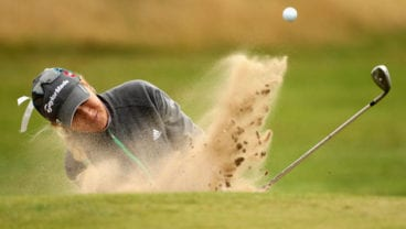 LYTHAM ST ANNES, ENGLAND - JULY 31:  Natalie Gulbis of USA hits out of a greenside bunker on the 11th hole during the second round of the 2009 Ricoh Women's British Open Championship held at Royal Lytham St Annes Golf Club, on July 31, 2009 in  Lytham St Annes, England.  (Photo by Warren Little/Getty Images) *** Local Caption *** Natalie Gulbis