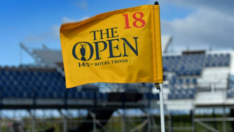 the open royal troon flag 18th