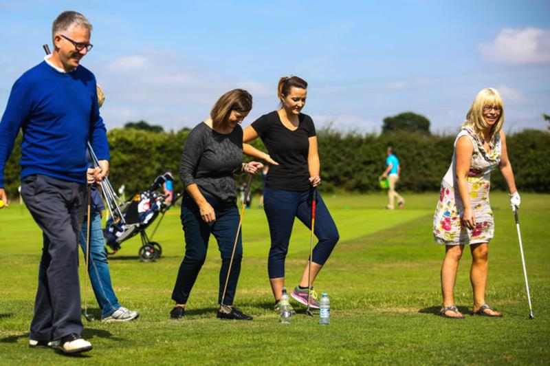 Women's first step in golf
