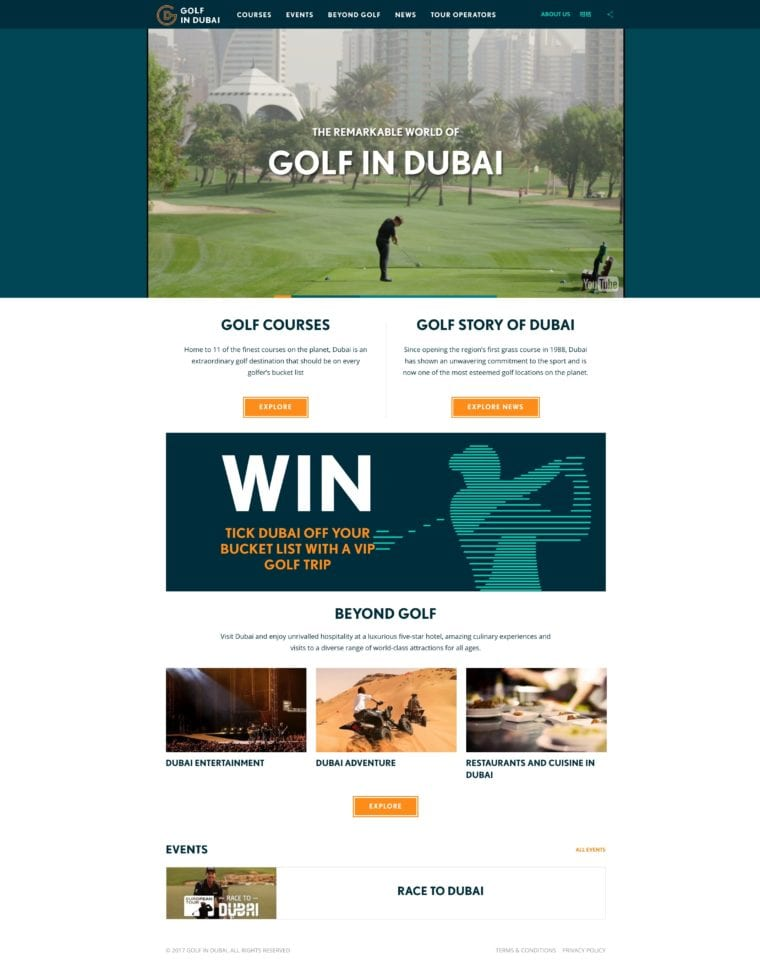 GolfinDubai.com website