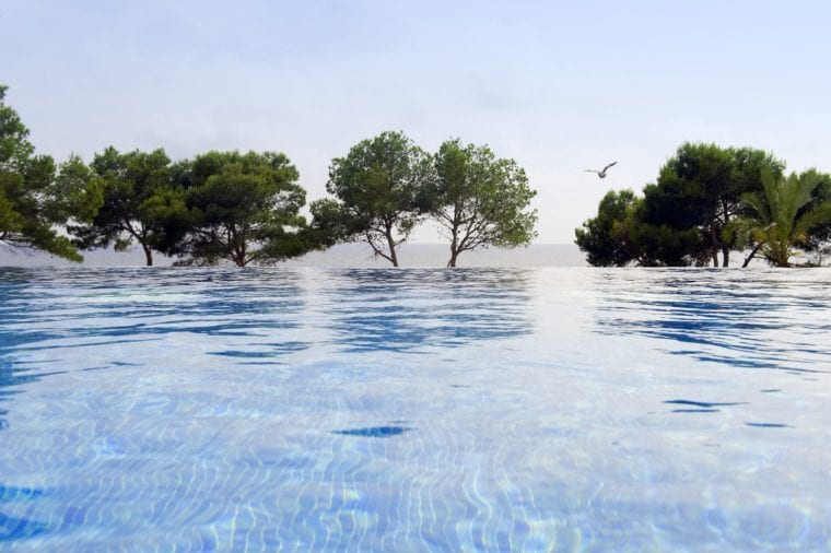 The Lumine Beach Club, with 8 swimming pools set amongst beautiful gardens