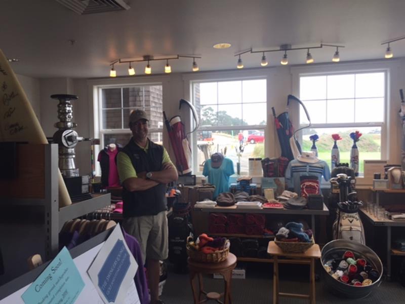 Jason Bangild, GM of Gearhart Golf Links in the Pro Shop