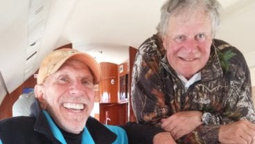John Strawn with Tim Boyle April 2015 golf retailing