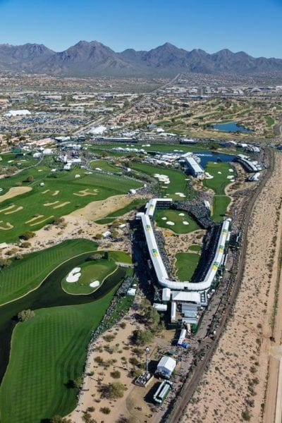 2017 Waste Management Phoenix Open 16 and 17 Aerial