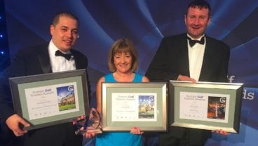 Gleneagles winning team at Scottish Golf Tourism Awards 2017