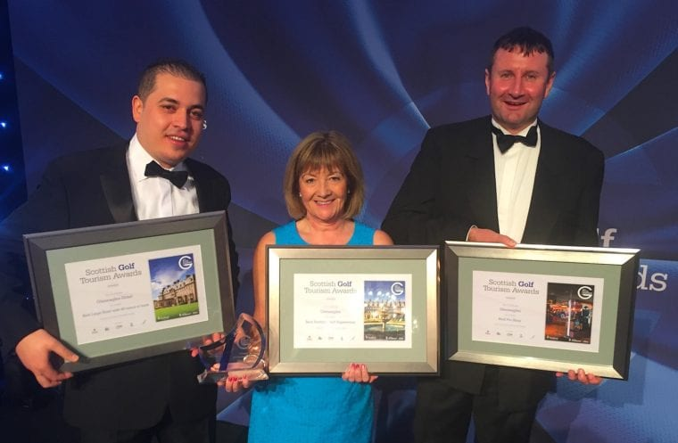 Gleneagles winning team at Scottish Golf Tourism Awards 2017