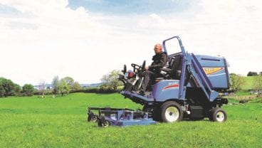 Iseki SF325 cut and collect out front mower