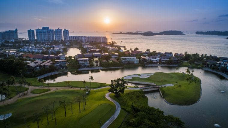 The Stunning 17th on Sentosa Golf Club's New Tanjong Course