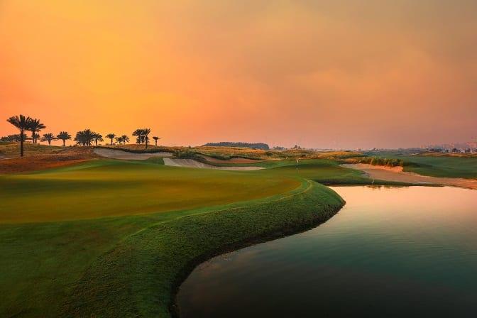 18th Hole at Saadiyat Beach Golf Club