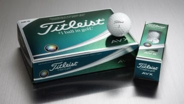 Titleist AVX golf balls in white