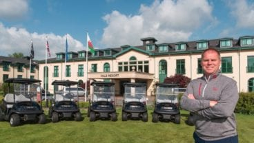 Vale Resort with the new Club Car fleet