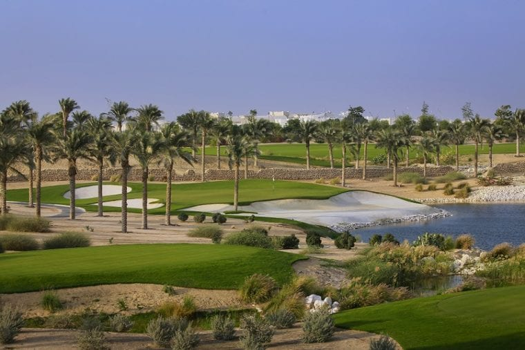 Education City Golf Club and the 4th hole