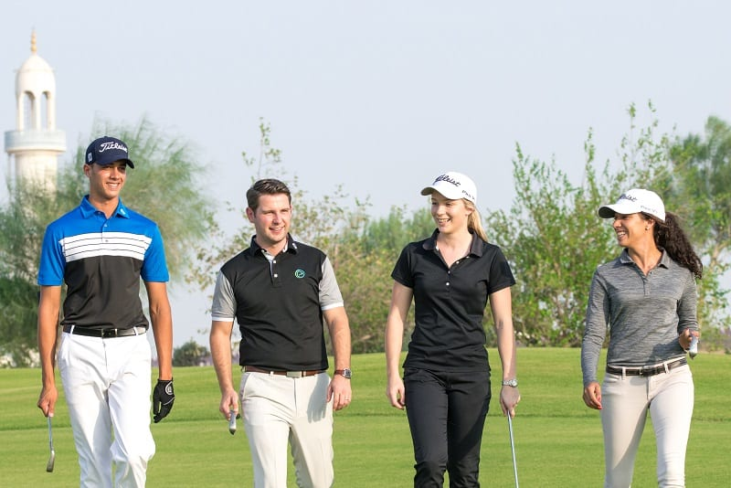millennial golfers and golf club members and guests