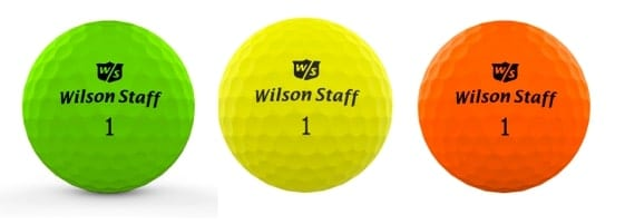Wilson Staff DUO Professional golf balls in 3 colors