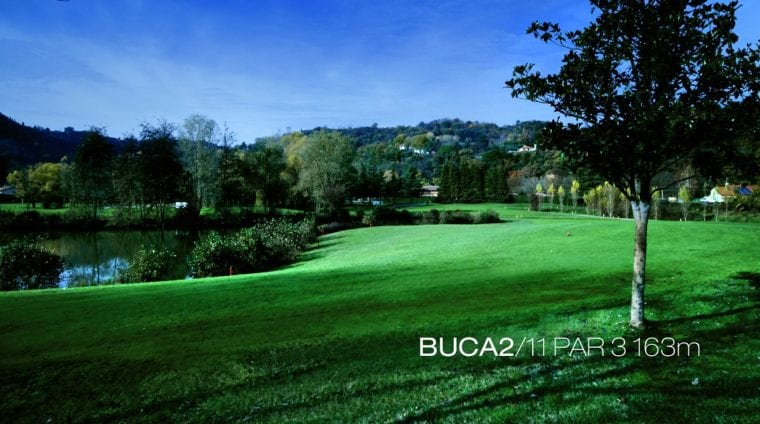 Vicenza Golf Club 2nd hole Italy