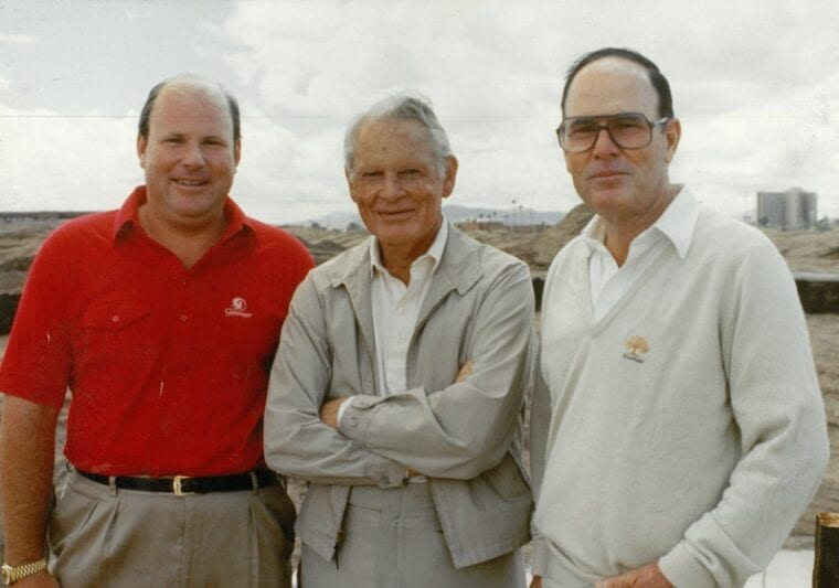 Perry Dye, Solly Sollenberger and Pete Dye - ASU Karsten Golf Course-FINAL