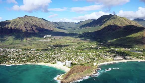 The Leeward Coast of Oahu, home of Mākaha Valley Resort