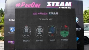 ParOne Invitational STEAMathalon welcome board