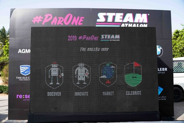 ParOne Invitational STEAMathalon welcome board