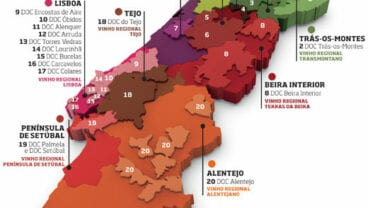 portugal wine regions map