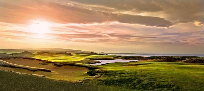 Dumbarnie Links golf course in Fife, Scotland