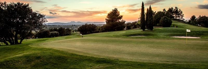 Golf International Pont Royal-sunrise at the golf course