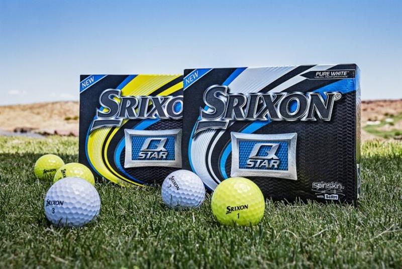 5th generation Srixon Q-STAR golf ball-white and yellow version