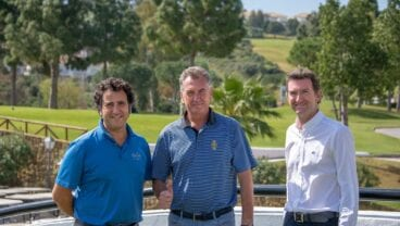 Rafael Linares and David Cooper and Robert Mitchell at Golf La Cala in Costa del Sol