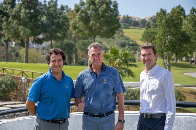 Rafael Linares and David Cooper and Robert Mitchell at Golf La Cala in Costa del Sol