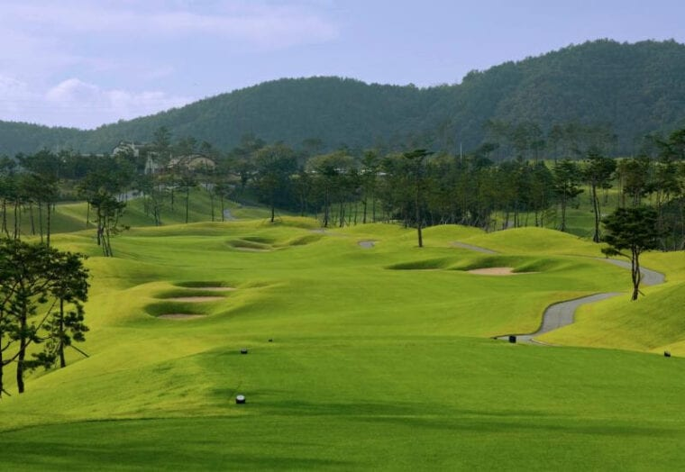 Keun Wi O'Phel Golf Club opened in 2018 outside the southeastern city of Daegu Korea