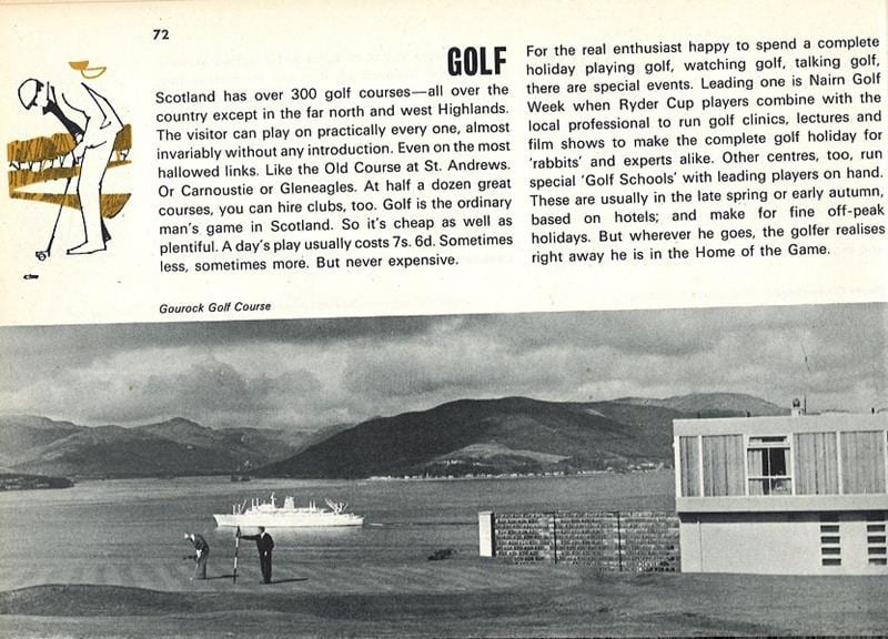 VisitScotland golf tourism promotion in 1969