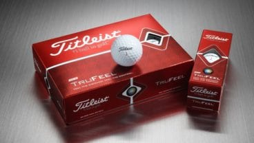 Titleist TruFeel golf ball in a lifestyle photo