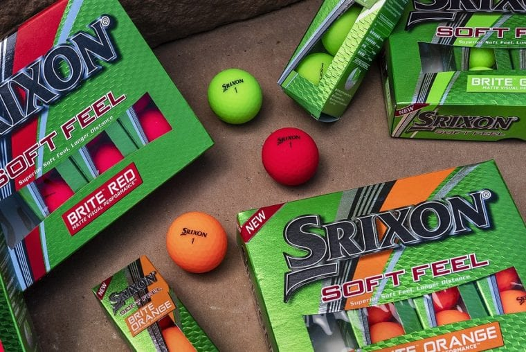 Srixon Soft Feel Brite golf ball in and out of the box