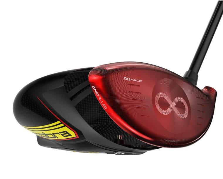 Cobra Golf SpeedZone driver face in red