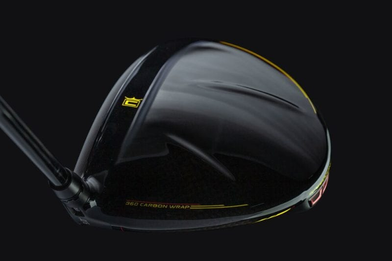 Cobra Golf SpeedZone driver view of the carbon fiber top