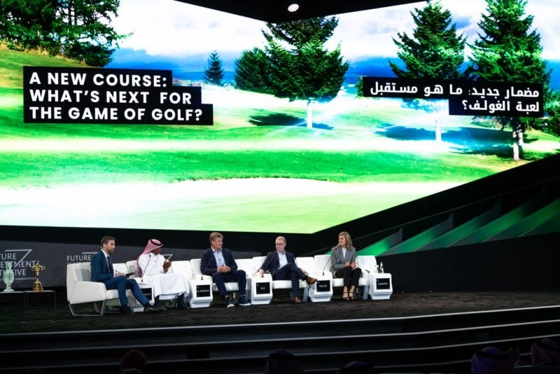 Expert Golf Saudi panel discuss 'What's next for the game of golf' at Future Investment Initiative