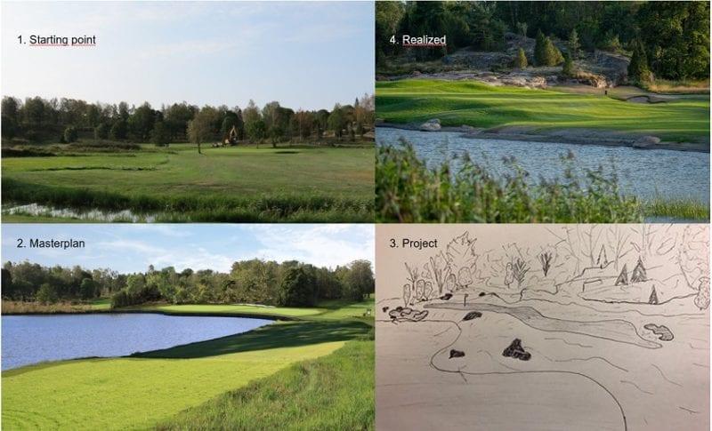 Ålands Golfklubb Hole 17 par 3 redesign process