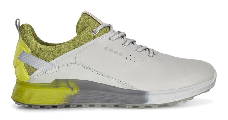 Ecco S-Three golf shoes-side-yellow