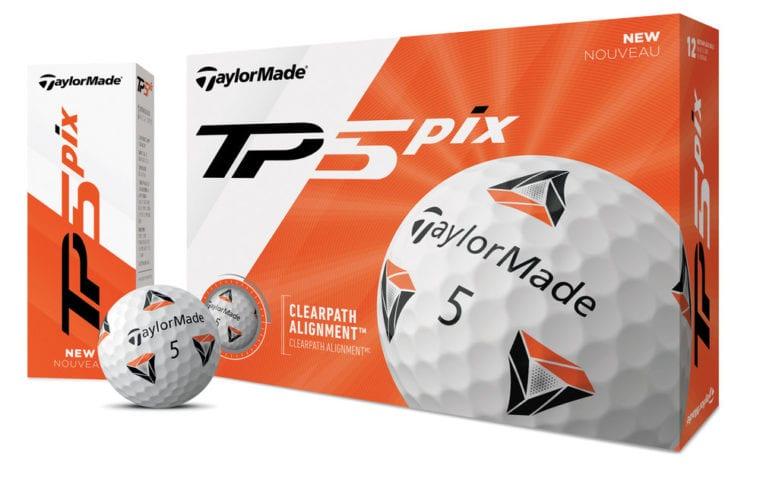 TaylorMade TP5 pix golf ball by Rickie Fowler packshot