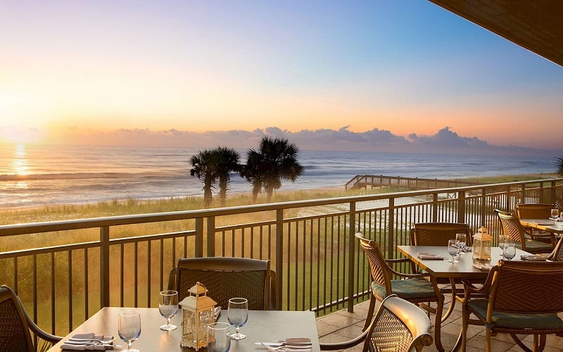 The Club at Hammock Beach at sunset with a superb view of the ocean