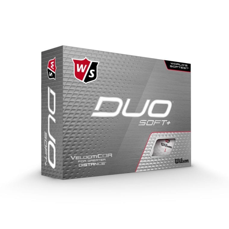 Wilson DUO Soft+ golf balls in a package